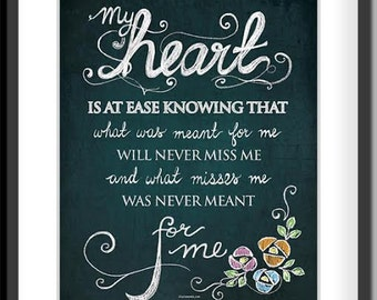 My Heart is at Ease DIGITAL Print