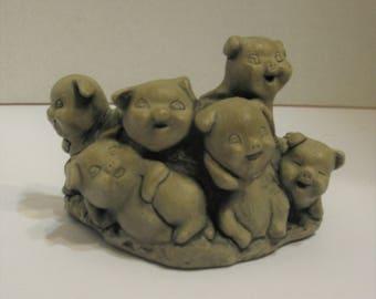 Mt. St.Helen's Volcanic Ash Pig Sculpture