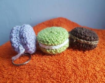 Three keychains of your choice. Crochet, crochet, macaron, favor, gift