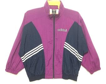 Adidas Windbreaker Color Block Purple Stripes