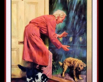 Be Kind to Animals Dog in the Rain Refrigerator Magnet
