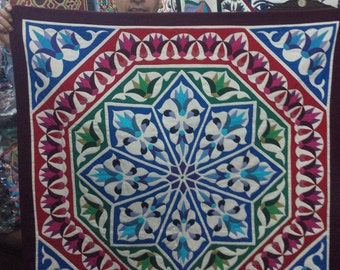 Esam Ali, Christmas Lotus Tentmakers piece w unique colors