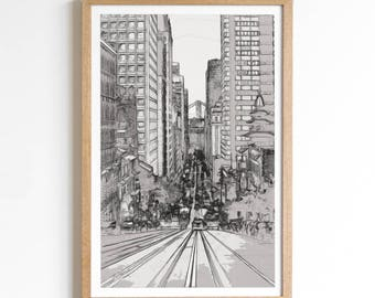 Landscape Photography - San Francisco Print - San Francisco Art - California Art - California Decor - Black and White