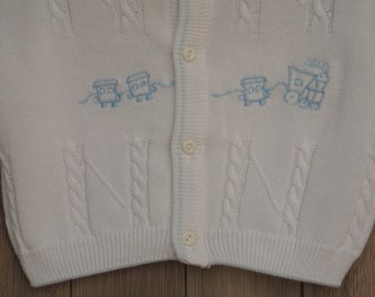 1960s Bobby Draper Newborn Train Sweater