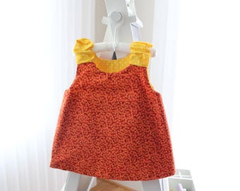 Reversible orange sundress size 3