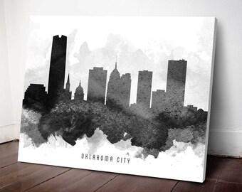 Oklahoma City Skyline Canvas Print, Oklahoma Cityscape, Oklahoma City, Oklahoma Art Print, Home Decor, Gift Idea, USOKOC11C