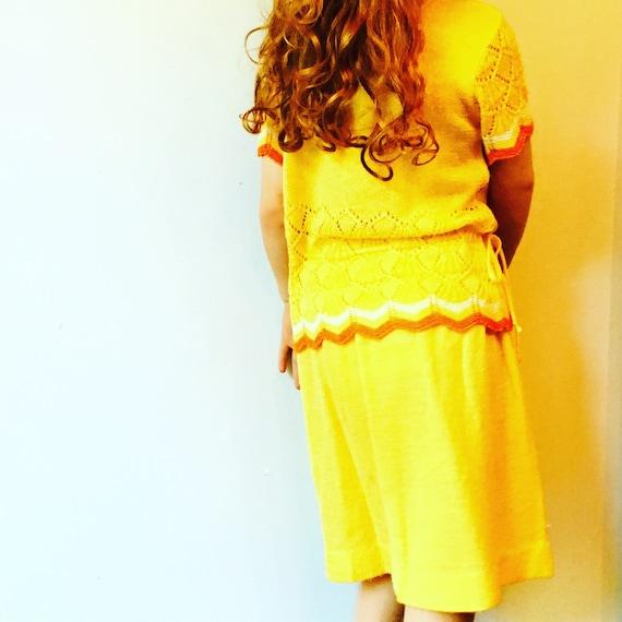 Vintage Mid Century Little World Girl's Size 5 Skirt and Dress Set SHIPS FREE