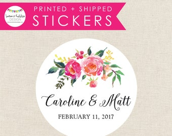 Personalized Wedding Stickers, Wedding Favor Stickers, Wedding Favors, Wedding Stickers, Favor Box Stickers, Lauren Haddox Designs