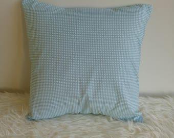 Gray/green printed cotton Cushion cover 40 x 40 cm