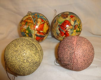 Christmas Ornament Candy Containers Vintage