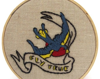 """Traditional embroidery kit """"Swallow"""""""