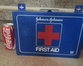 Johnson And Johnson First Aid Kit Metal Made in the USA