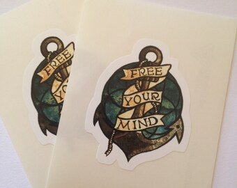 Free Your Mind Vinyl Sticker Decal