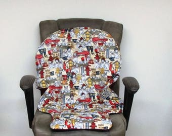 Graco fireman replacement pad Duodiner or Blossom high chair protector, baby accessory chair cushion, kids furniture, chair, fire department