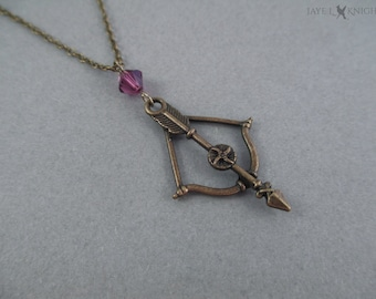 Bow and Arrow Necklace - Bronze