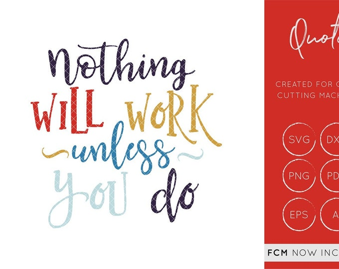 Nothing will work unless you do svg cut file