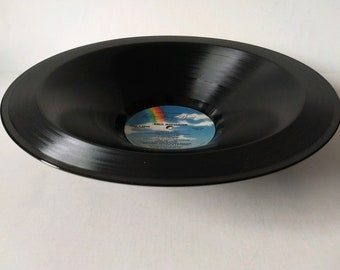 Lynyrd  Skynyrd Smooth Record Bowl Hand Made from Authentic Vinyl Record