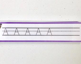 Preschool Alphabet Tracing Ringed Packet