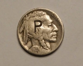 1927 Buffalo Nickel Counterstamped P