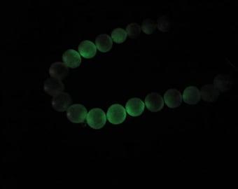 Bracelet of luminous freshwater zuchtperlen (luminescence) 10 mm