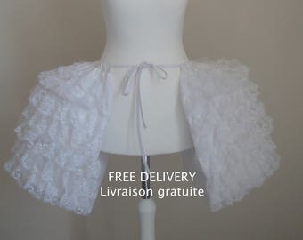 Petticoat 18th Marie-Antoinette basket panniers with lace for woman from XS to 3XL - free shipping