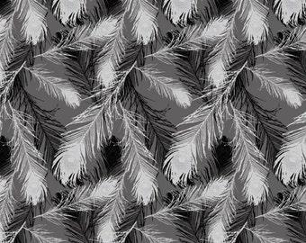 Removable Wallpaper, Peel and stick wallpaper, wallpaper, Feather wallpaper, Bird wallpaper, Self adhesive wallpaper, grey wallpaper