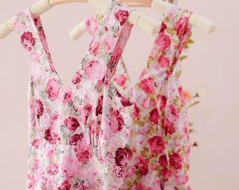 SALE Floral dress Summer dress floral bridesmaid dress Vintage floral party dress country prom dress spring summer sundress