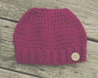 The Hayley Top Knot Beanie - 4-12yrs old