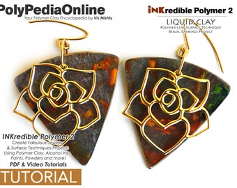 Polymer Clay, PDF Tutorial, Crafting Polymer Clay, Polymer Clay Pattern, Polymer Clay Jewelry, DIY Handmade Bead, Jewelry Tutorial, Ink