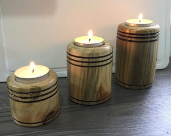 Wooden Tee Tree Candle Holders