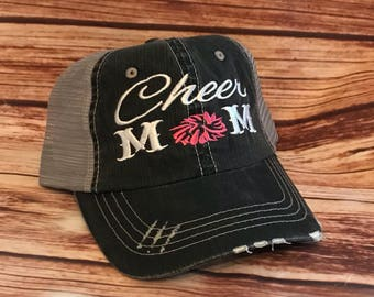 Cheer Mom Hat*Cheer Mom*Gifts for her*Girlfriend Gift*Momlife*Sports Mom*Mama Bear* Raising my Tribe* Cheerleader*Custom Mom Hat*Mom Cheer