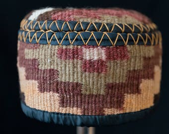 Kilim Hats - hand crafted artisan - each one unique - traditional textile art