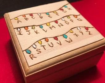 Stranger Things Lights Box keepsake jewelry gift