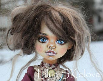 dolls Textile doll blonde textile doll interior doll fabric doll portrait doll cloth textile doll текстильная кукла selfy doll portrait doll