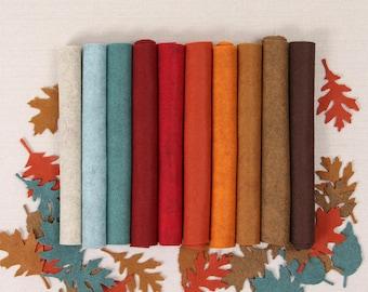 Wool Felt // Harvest Moon // Wool Felt Sheets, Fall Color Palette, Merino Wool Sheets, Fall Wreaths, Autumn Felt Colors, Fall DIY Projects