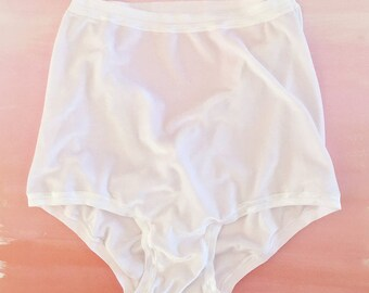 Utter Wrapture Undies | White Velvet Undies, Ouvert Panty, Cut out lingerie, High Waist Panties, Retro Undies, Pin Up Style Rockabilly Panty