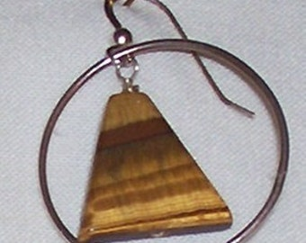 Alcoholics Anonymous Jewelry/Tiger Eye Earring/Recovery Jewelry/AA Jewelry/Tiger Eye/