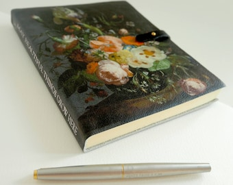 Floral Notebook / Leather Journal / Sketchbook - Personalised Botanical Flower Print from Recycled & Acid-Free Cotton Paper - Il Mazzetto