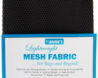Mesh fabric Light Lite Weight--18 inch x 54 inch Pocket Mesh BLACK