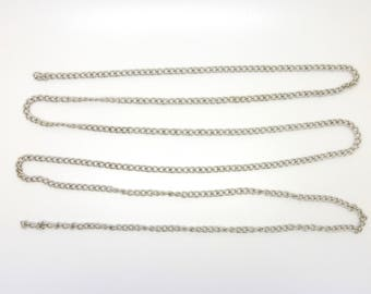 Open link silver chain