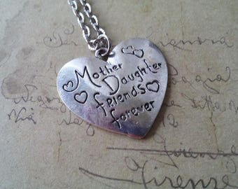 Heart Necklace ~ mother daughter friends forever ~