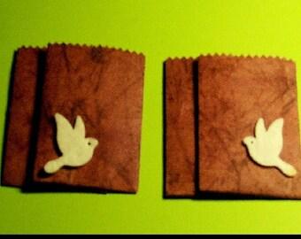 4 mini pouches gift blueish color