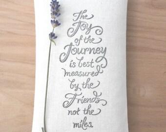 Cadeaux d'amitié unique, joie de la Sachet de lavande voyage, longue Distance va loin cadeaux