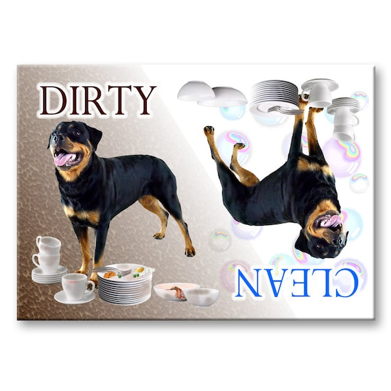 Rottweiler Clean Dirty Dishwasher Magnet No 2