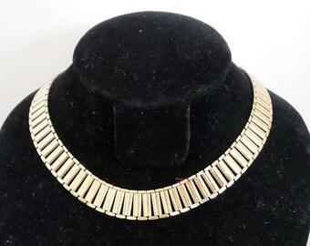 Vintage Necklace Gold Tone Link