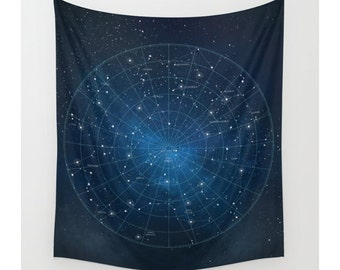 Constellation Wall Tapestry, Wall Hanging, Star Map, Astronomy, Astrology, Celestial Map, Wall Art, Wall Decor, Home Decor