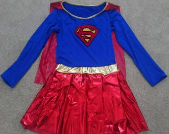 Supergirl Cosplay Costume Dress