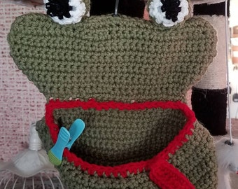 Frog Clothespin Holder for your Clothesline