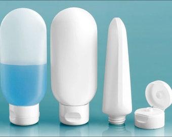 Plastic Bottles, HDPE Tottles w/ Snap Top Dispensing Caps