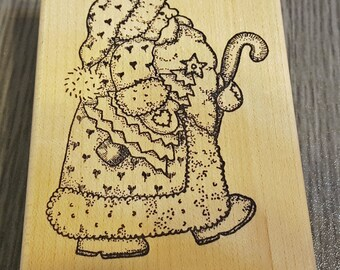 Father Christmas Rubber Stamp from Azadi Earles, Inc
